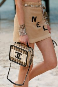 Chanel Beige/Black Wicker CC Filigree Vanity Bag - Spring 2019