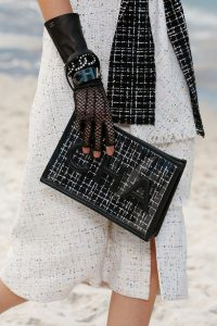Chanel Black Tweed Clutch Bag - Spring 2019