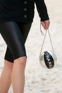 Chanel Black/Silver Beach Ball Minaudiere Bag - Spring 2019