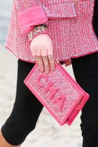 Chanel Pink Tweed Clutch Bag - Spring 2019
