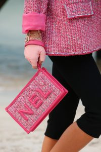 Chanel Pink Tweed Flap Bag 2 - Spring 2019