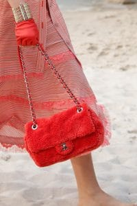 Chanel Red Fabric Flap Bag 2 - Spring 2019