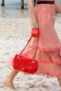 Chanel Red Fabric Flap Bag - Spring 2019
