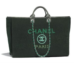 Chanel Shearling Deauville Shopping Bag