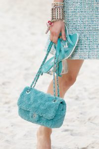 Chanel Turquoise Fabric Flap Bag - Spring 2019