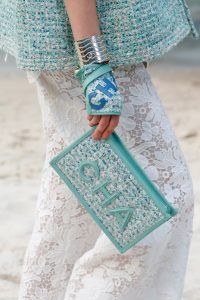 Chanel Turquoise Tweed Clutch Bag - Spring 2019