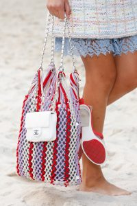Chanel White Flap and Purple/Red Net Tote Bags - Spring 2019