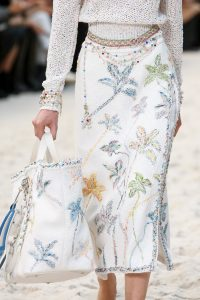 Chanel White Multicolor Embroidered Tote Bag - Spring 2019