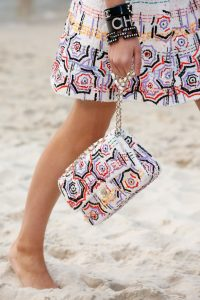 Chanel White Multicolor Sequined Flap Bag - Spring 2019