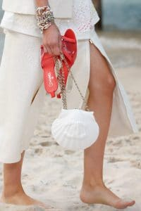 Chanel White Shell- Shaped Evening Bag - Spring 2019