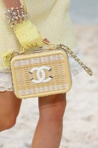 Chanel Yellow Wicker CC Filigree Vanity Bag - Spring 2019