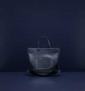 Delvaux Navy/Ivory Soft Surpiqué Pin Bag - Spring 2019
