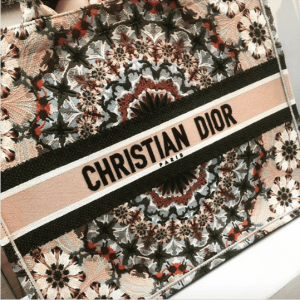 Dior Beige Embroidered Book Tote Bag - Spring 2019