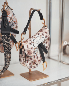 Dior Beige Multicolor Embroidered Saddle Bag - Spring 2019