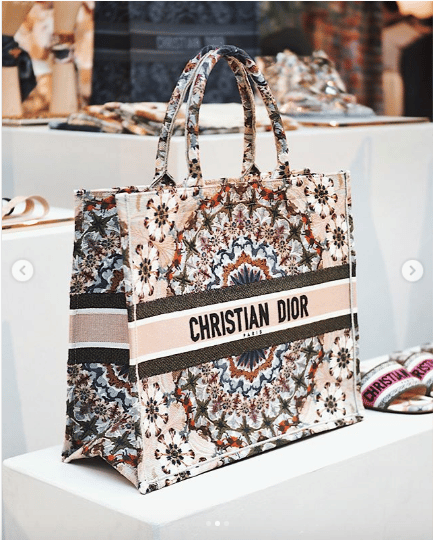 73c31008a Dior Beige Multiocolor Embroidered Book Tote Bag - Spring 2019. IG:  anazsiantar