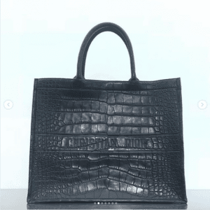 Dior Black Crocodile Book Tote Bag - Spring 2019