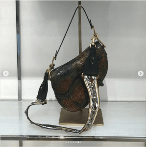 Dior Brown Crocodile Saddle Bag - Spring 2019