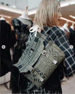 Dior Green Embroidered Backpack Bag - Spring 2019