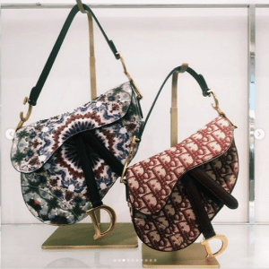 Dior Multicolor Embroidered and Oblique Canvas Saddle Bags - Spring 2019