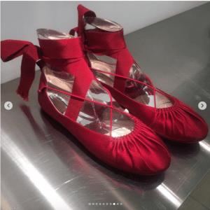 Dior Red Ballet Flats - Spring 2019