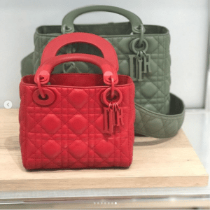 Dior Red and Green Lady Dior Bags - Spring 2019