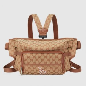 Gucci Beige/Brick GG Canvas LA Angels Belt Bag