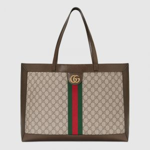 Gucci Beige/Ebony GG Supreme Ophidia Tote Bag