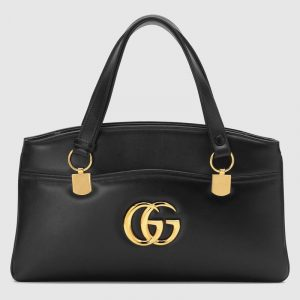 Gucci Black Arli Large Top Handle Bag