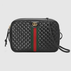 Gucci Black Quilted Shoulder Bag