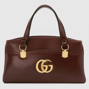 Gucci Burgundy Arli Large Top Handle Bag