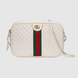 Gucci Off-White Quilted Shoulder Bag