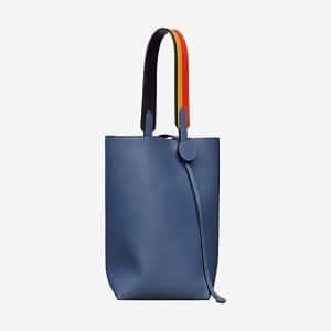 Hermes Bleu Brighton/Rocabar Licol 19 Bag
