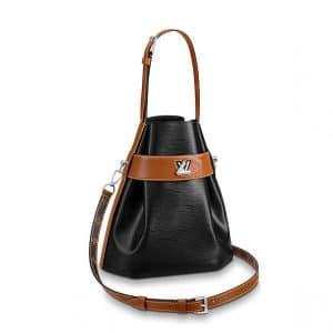 Louis Vuitton Black Epi Twist Bucket Bag