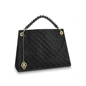 Louis Vuitton Black Monogram Empreinte Braided Handle Artsy MM Bag