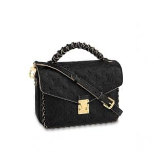 Louis Vuitton Black Monogram Empreinte Braided Handle Pochette Metis Bag
