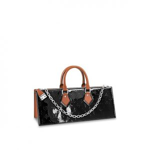 Louis Vuitton Black Monogram Vernis Sac Tricot Bag