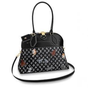 Louis Vuitton Black/White Catogram Alma Souple MM Bag
