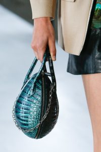 Louis Vuitton Blue/Black Crocodile Oval Bag - Spring 2019