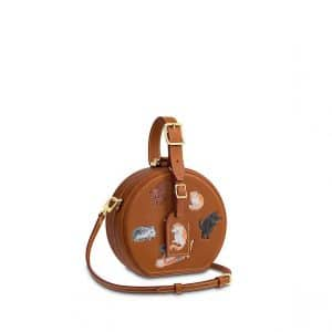 Louis Vuitton Cat and Dog Embroidered Petite Boite Chapeau Bag