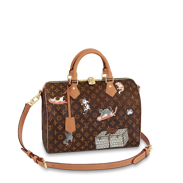 3b946c21e9ff Louis Vuitton Catogram Speedy 30 Bandoulière Bag