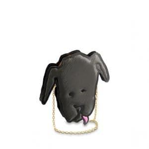 Louis Vuitton Gray Dog Face Clutch Bag