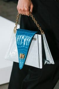 Louis Vuitton Gray/Turquoise Crocodile Flap Bag 2 - Spring 2019