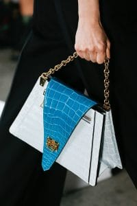 Louis Vuitton Gray//Turquoise Crocodile Flap Bag - Spring 2019