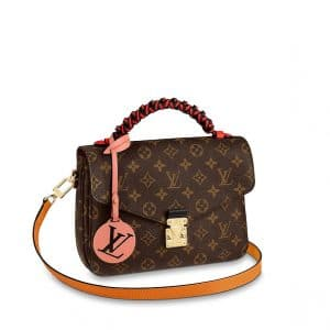 Louis Vuitton Monogram Canvas Braided Handle Pochette Metis Bag