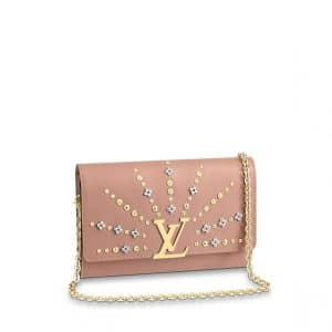 Louis Vuitton Nude Studded Louise Chain GM Bag