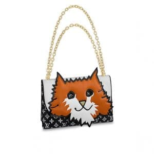 Louis Vuitton Orange Cat Chain Clutch Bag