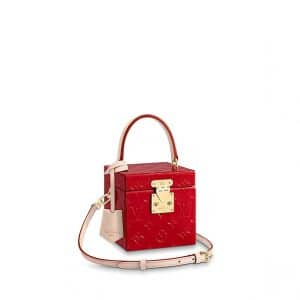 Louis Vuitton Rouge Monogram Vernis Bleecker Box Bag