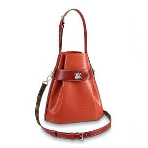 Louis Vuitton Rouille Epi Twist Bucket Bag