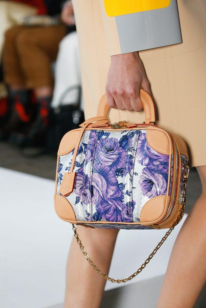 eb30a2e8f183 Louis Vuitton Silver Purple Floral Python Vanity Case Bag - Spring 2019