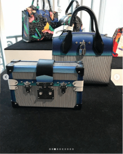 Louis Vuitton Blue Petite Malle and City Steamer Bags - Spring 2019